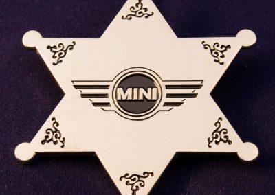 Sheriffstern mit Firmen-Logo